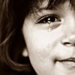 Foto mostrando que o problema não é chorar quando sentimos dor