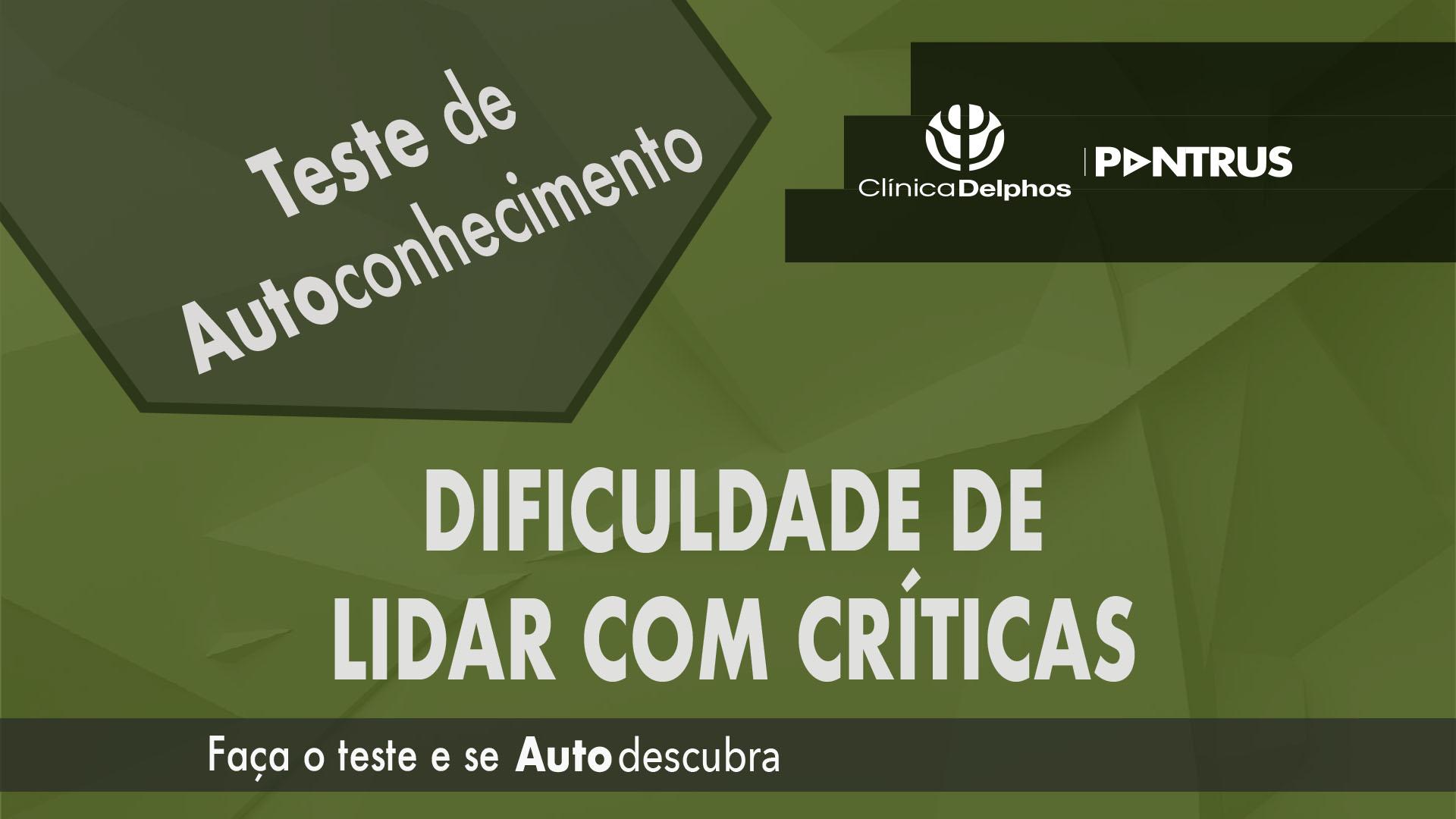 Teste Lidar com Críticas